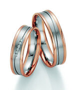 Pair Wedding Rings Engagement Rings Golden Brilliant With