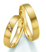 Promotion Pair Wedding Rings Made Of Gold With Diamond + Certificate