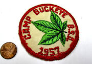 1957 Camp Buckeye, Ohio Massillon Council Mgd 1958, Early Bsa Boy Scout Patch Oh