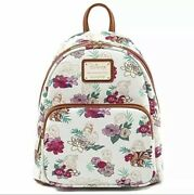 Authentic Loungefly Disney Princess Floral Aop Mini Backpack