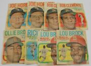 1970 Topps Poster Lot Of 8 Clemente Brock 65803