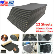 12sheets Universal Car Sound Proofing Deadening Insulation 10mm Closed Cell Foam