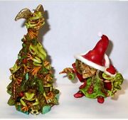 Neil Eyre Eyredesigns Halloween Christmas Santa Hat Witch Tree Frog Ornament At