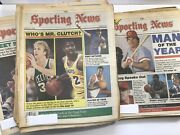 46 Issues 1986 The Sporting News Lot Jan 6 - Nov 11 Newspapers Super Bowl World