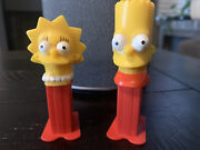 2003 The Simpsons Mini Pez Candy Dispensers Bart And Lisa Simpson Great Condition