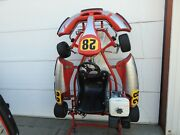 Birel 9 Hp Engine Go Kart Built Tough Used Complete Freight Ship Ready To Race