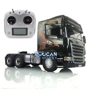 Lesu Rc 1/14 64 Metal Chassis Light Sound Scania Rc Gripen Tractor Truck Radio