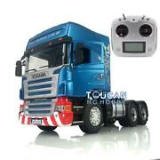 Lesu Rc 1/14 64 Metal Chassis Light Sound Painted Scania Rc Tractor Truck Radio