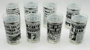 Unique And Vintage Rocky Mountain News Glasses Set Of 8-wonderful