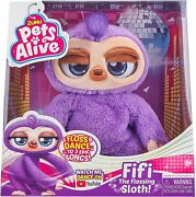 Pets Alive Fifi The Purple Flossing Sloth New