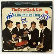 The Dave Clark Five Autograph Signed I Like It Like That Album Record X3 Lp Js