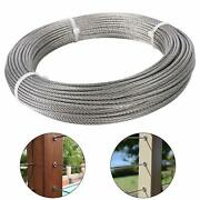 1/8 304 Grade 7x7 Stainless Steel Aircraft Cable Wire Rope 100ft-500ft