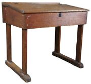 Primitive Antique Early American Pine Slant Top Writing Desk Country Farmhouse