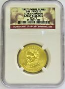 2011 W Gold 10 Eliza Johnson Spouse 1/2 Oz 2905 Minted Ngc Ms 70 Early Release