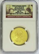 2013 W Gold 10 Ida Mckinley Spouse 1/2 Oz 2008 Minted Ngc Ms 70 Early Releases