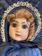 19andrdquo Antique C1890 Jumeau Doll Marked Straightwristed Body And Mohair Wig