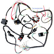 Complete Electrics Wiring Harness Wire Loom For Atv 150 200cc 250cc Stator Cdi