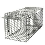 Steel Humane Animal Trap Durable 32x12.5x12 Smoothed Inside Safe For Rodent