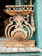 Fancy Antique Cast Iron Fence Balcony Section