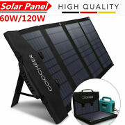 60w120w Foldable Outdoor Solar Panel Fast Charging Portable For Camping Y H 117