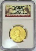 2011 W Gold 10 Julia Grant Spouse 1/2 Oz 2,892 Coin Ngc Ms 70 Early Releases