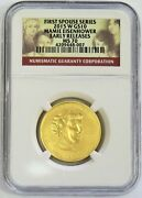 2015 W Gold 10 Spouse Mamie Eisenhower 1/2 Oz 2102 Minted Ngc Ms 70 Er