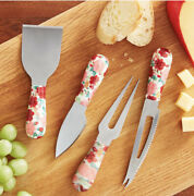 New Pioneer Woman Cheerful Rose Cheese Knives