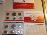 1987 Us Mint Uncirculated Coin Set D And P