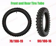 Front And Rear Tire Tube 70/100-19 90/100-16 Knobby Tires For Dirt Bike Motorcycle