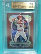 2019 Bowman Chrome Mike Trout 2/5 Red Refractor Bgs 10 Pristine Sterling Gf