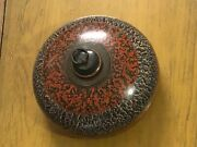 Old Antique Original Wooden Lacquer Tobacco Box With Lid Collectible