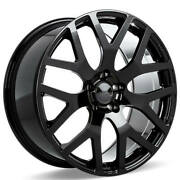 4 22 Staggered Ace Alloy Wheels Aff07 Gloss Black Rimsb42