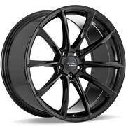 4 19 Staggered Ace Alloy Wheels Aff05 Gloss Piano Black Rimsb42