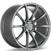 4 20 Staggered Ace Alloy Wheels Aff05 Space Gray Rimsb42
