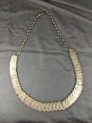 Vintage Silver Coin Peru Lima Un Din 1/5 Sol Necklace Many Dates 1864-1916 Toned