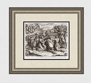 Raphael Vatican 1649 Engraving Moses Shatters The Tablets Framed Signed Coa