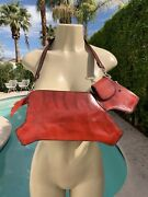 Leather Dog Shaped 3d Handbag Purse Dark Red Lined Coin Pouch Nose Scottie Dog