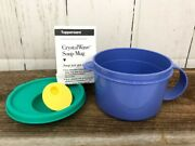 Tupperware Crystal Wave Soup Mug 3155 With Vented Lid