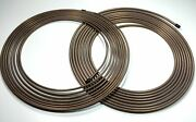 3/16 And 1/4 Copper Nickel Rolls - 25 Ft. Each Brake Lines Easy Bend.