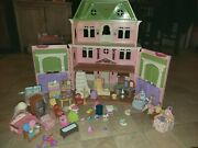 Fisher Price Loving Family Grand Mansion Victorian Dollhouse Furnished Rare 2008