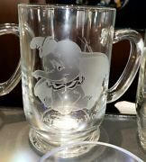 New Disney Parks Arribas Dumbo Etched Glass Coffee Mug Cup Personalized