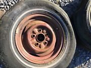 13 Ford Falcon Comet Steel Wheels Pair 5 Lug Rims Mustangandnbsp