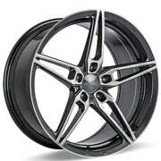 4 20 Ace Alloy Wheels Aff01 Gloss Grey With Machined Face Rimsb43