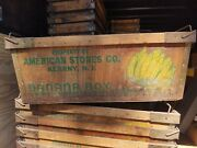 Antique Wooden Banana Box Crate American Stores