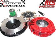 Acs Stage 3 Clutch Kit+slave Cyl+race Flywheel 2005-2010 Ford Mustang 4.0l V6