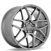 4 19 Staggered Ace Alloy Wheels Aff11 Space Gray Rimsb43