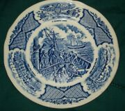 Fair Winds Alfred Meakin Staffordshire England Uss Constitution W Chinese Junks