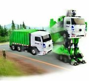 Odyssey Toys Dumpinand039 Moto Remote-controlled Transforming Robot Garbage Truck