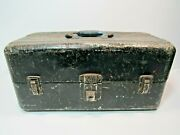 Vintage Union Steel Utility Chest Usa Tackle Tool Box Rusty Patina
