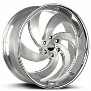 4 24 Strada Wheels Retro 6 Silver With Brushed Face And Ss Lip Rims B43